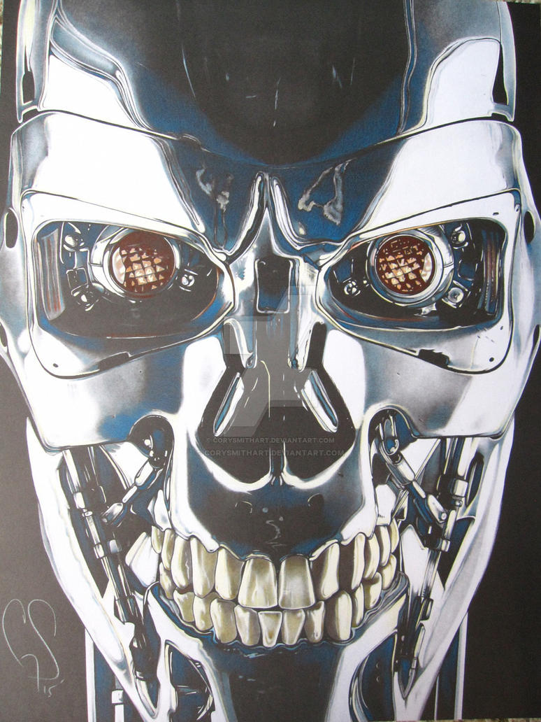 The fully colored T-800 by corysmithart