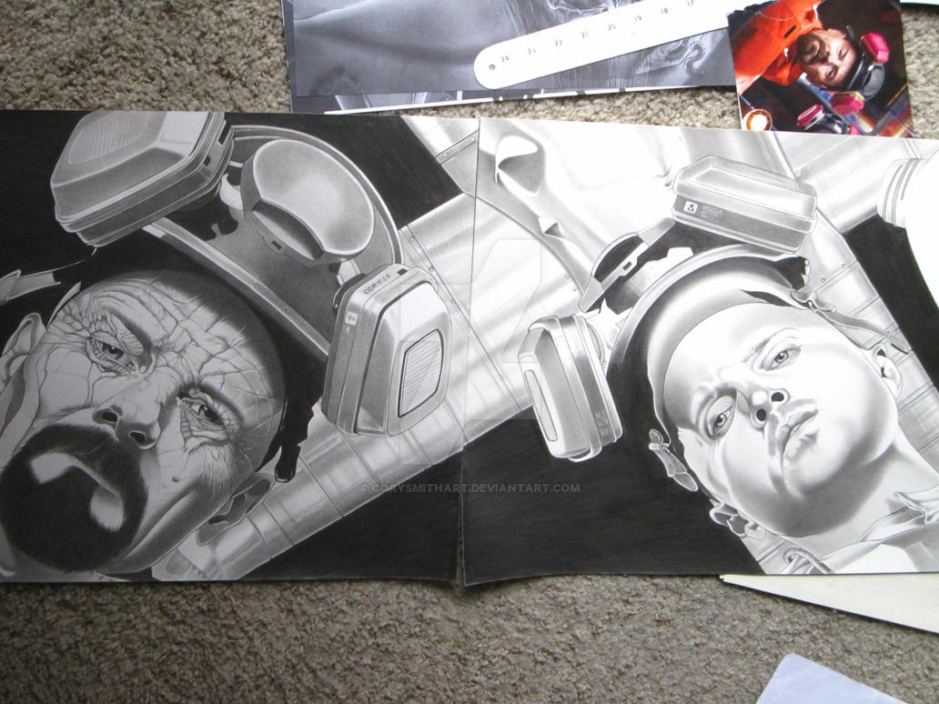 Heisenburg and Jessie finished Pieces by corysmithart