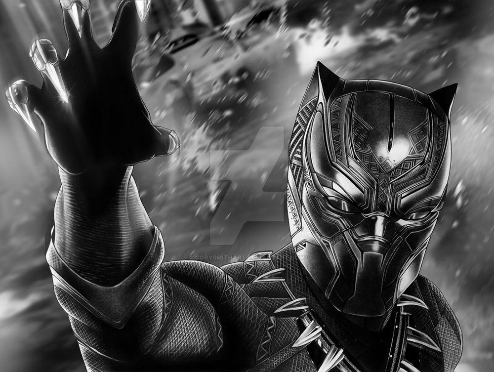 Black Panther By Portela On Deviantart: Black Panther Finished By Corysmithart On DeviantArt