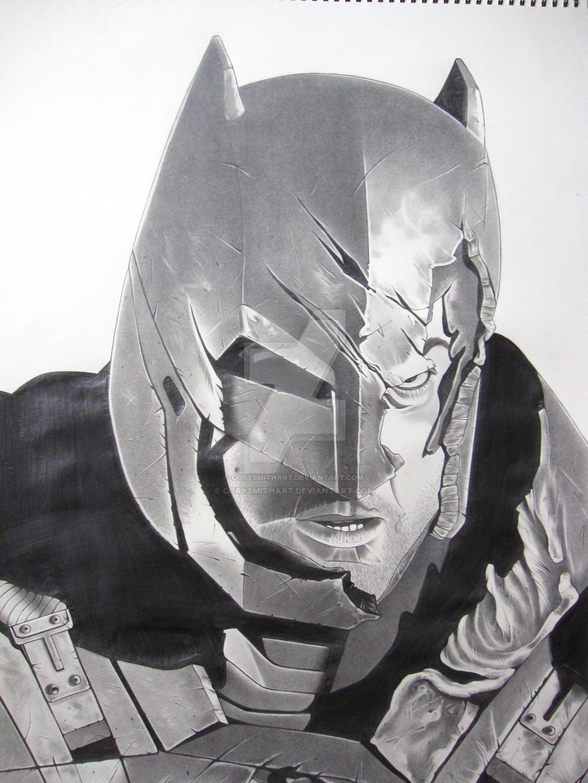 Armored Batman by corysmithart