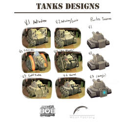 PS4 Game ''Rollin'Bob'' Tanks designs