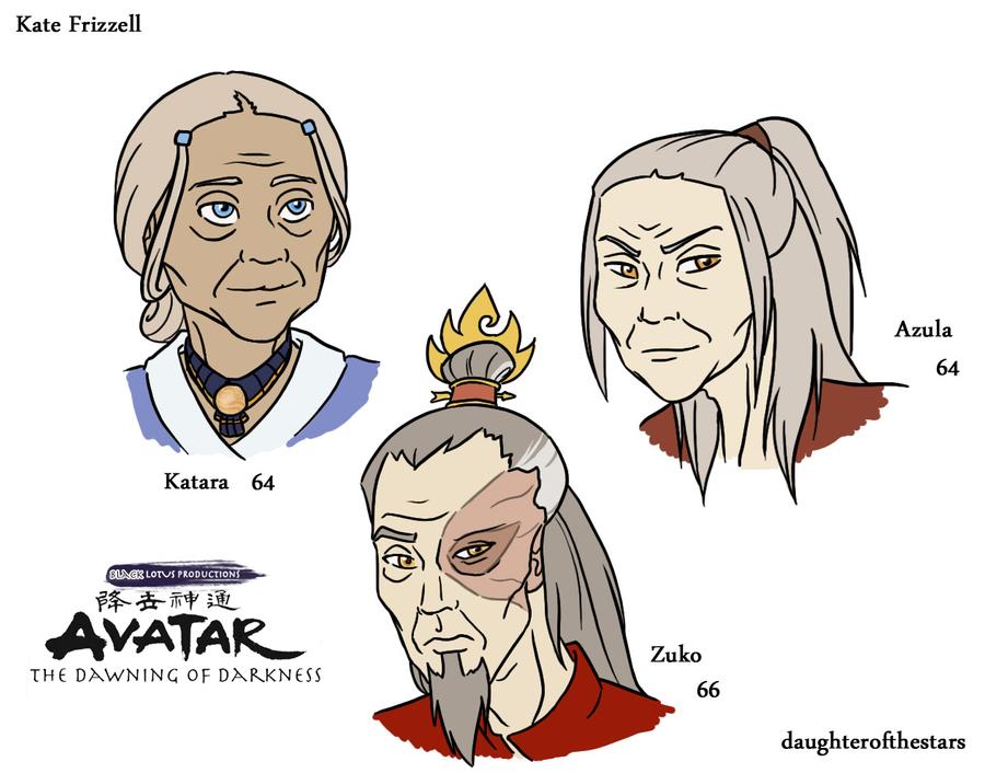 DoD Older Katara Azula Zuko By Avatar The