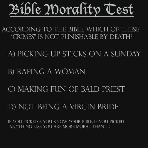 Bible Morality Test by helpfulme