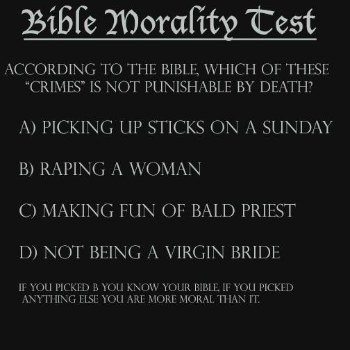 Bible Morality Test by helpfulme