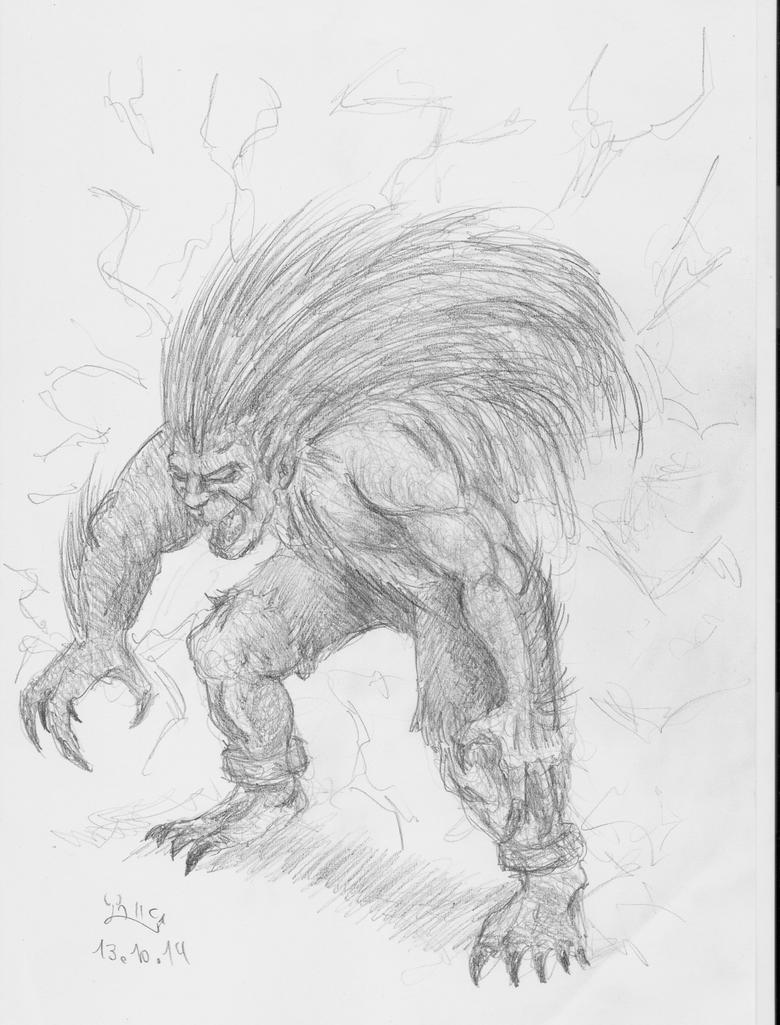 Blanka doodle by Fernoll