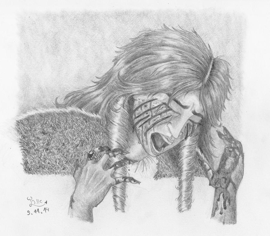 Catelyn Stark losing it by Fernoll