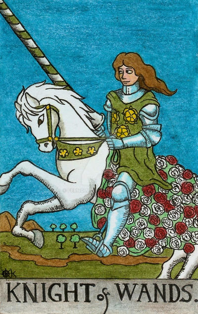 What does the Knight of Wands Tarot card mean for love