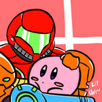 Kirby and Samus