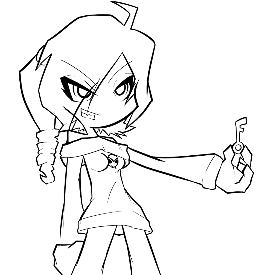 Scribble Drawing Zone : Zone tan lineart by clone