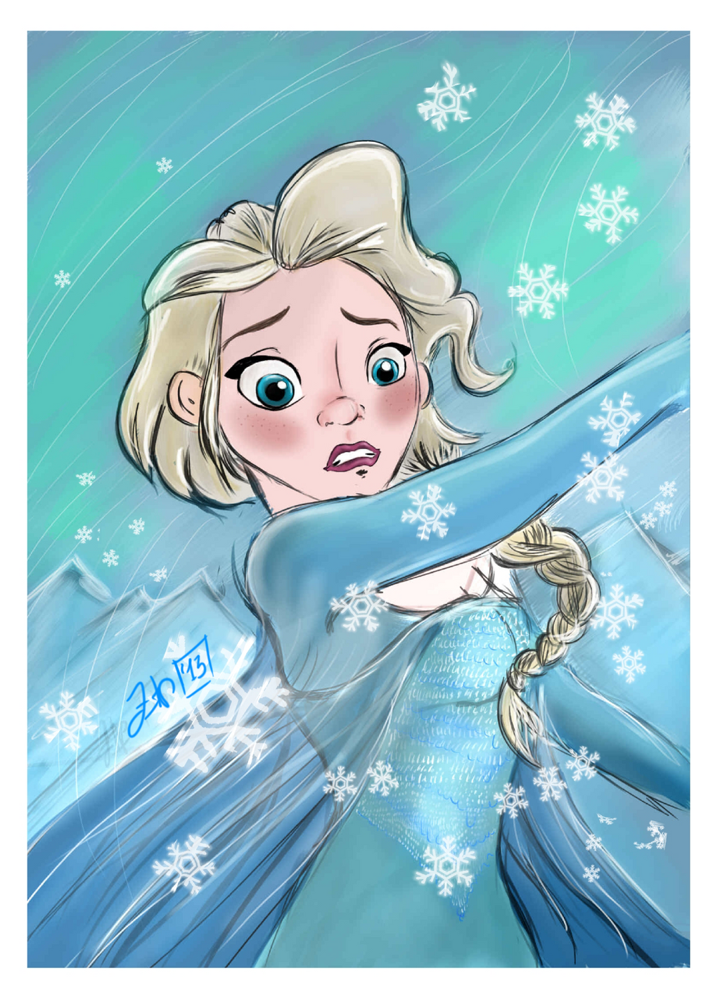 (C) Walt Disney - Frozen - Elsa Character by FortuRaider