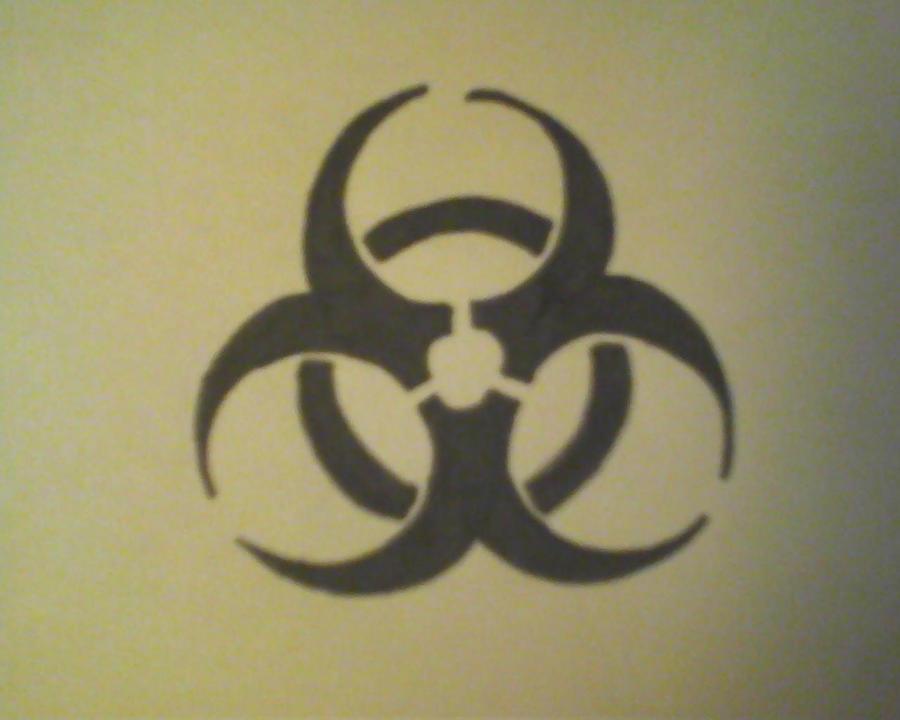 basic bio hazard tattoo design by dravennavarro on deviantart. Black Bedroom Furniture Sets. Home Design Ideas