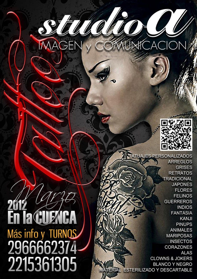 flyer tattoos en la cuenca by facundo pereyra on deviantart. Black Bedroom Furniture Sets. Home Design Ideas