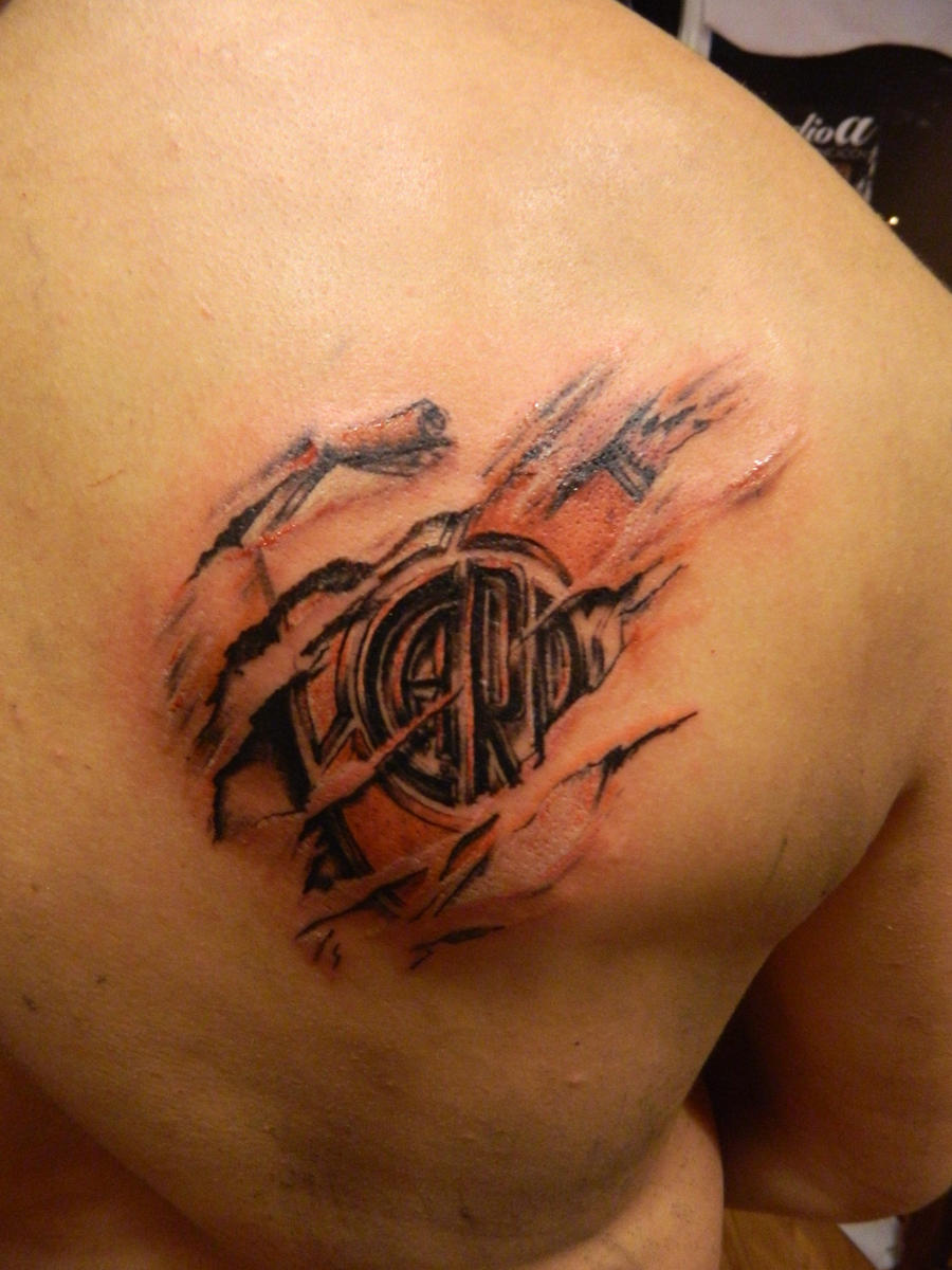 Club atletico river plate tattoo by facundo pereyra on for Tattoo art club