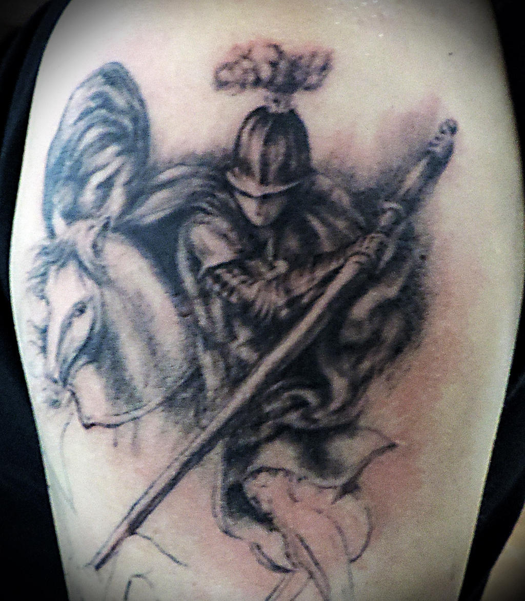 Saint george in progress by facundo pereyra on deviantart for Tattoo shops in st george