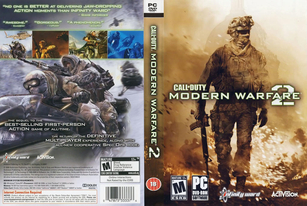 Image result for cod mw 2 dvd image pc