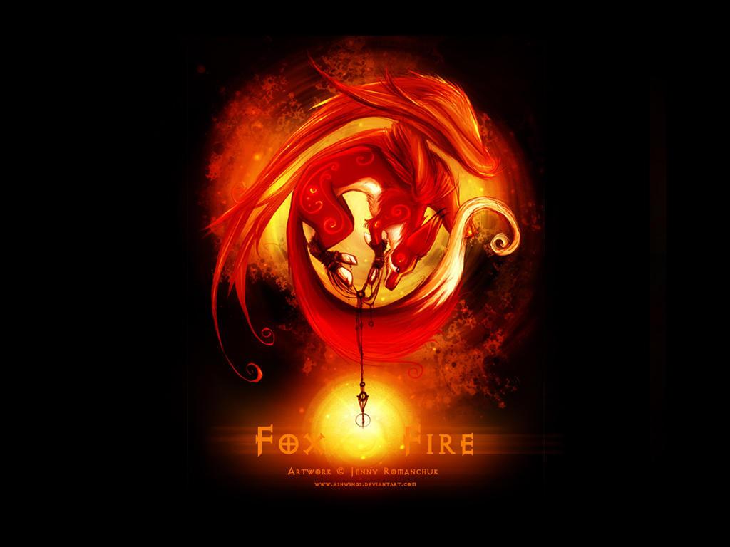 Fox Fire   Wallpaper   by Ashwings 34 Geniş ekran masaüstü resimler