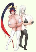 Kaguya and Selvaria by lalox