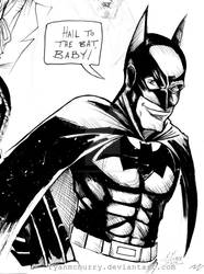sketch Bruce Campbell as The Batman by RyanMcMurry