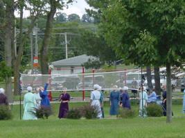 Amish Urban Volleyball by Azildin