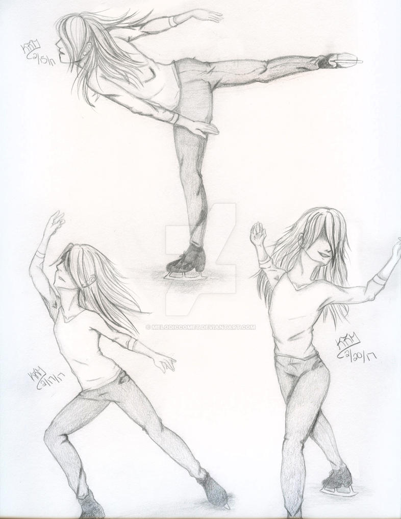Anatomy Practice ft. Figure Skaters by MelodicComet