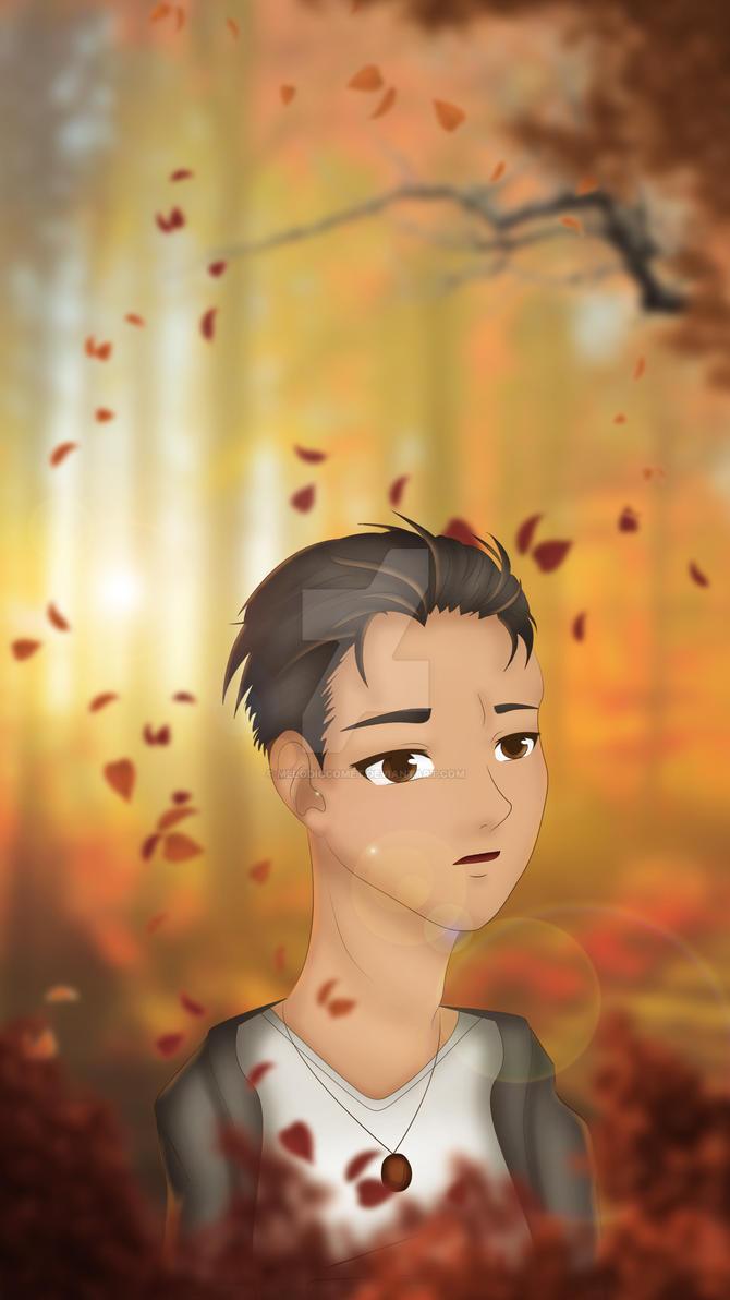 Fall- Otabek Altin (Yuuri!!! on Ice) Fanart by MelodicComet