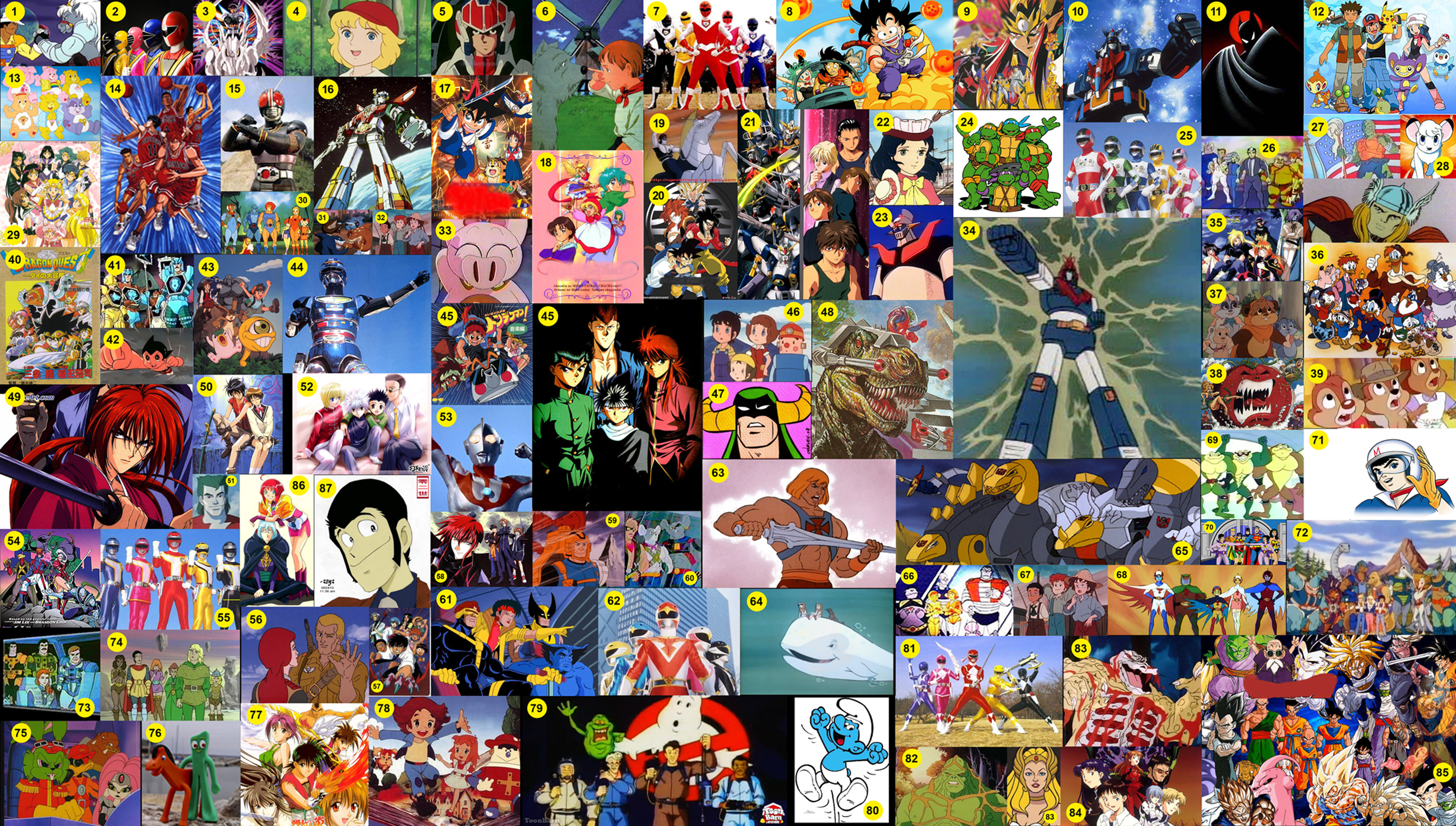 Anime Characters 90s : My collection of s anime cartoons etc by