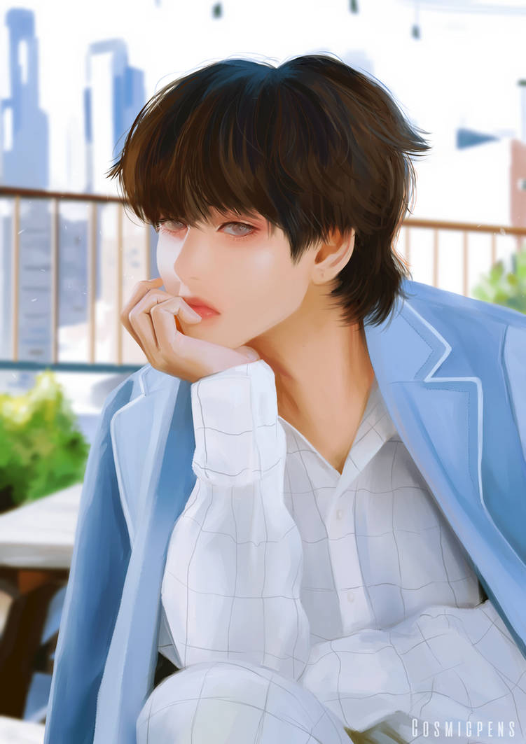Taehyung Dispatch by Cosmicpens