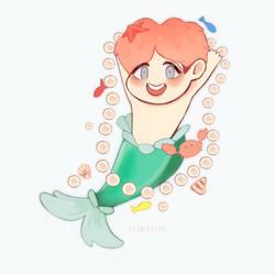 JHope Mermaid by Cosmicpens