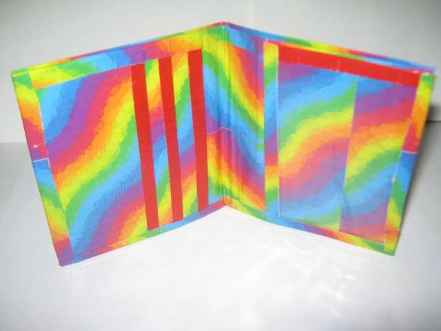 Rainbow Duct Tape Mini Wallet by CraftyGirl27