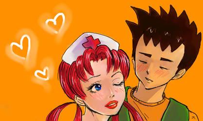 Nurse Joy and Brock by kaorinchan