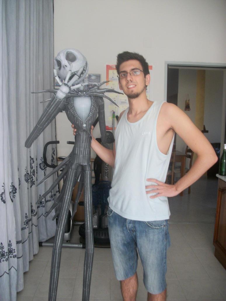 papercraft Jack Skellington (aka Jack Skeletron) by stremis