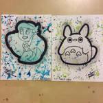 Ariel and totoro paint splash