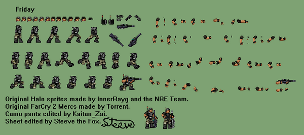 Friday Sprite Sheet by Steeve-the-Fox