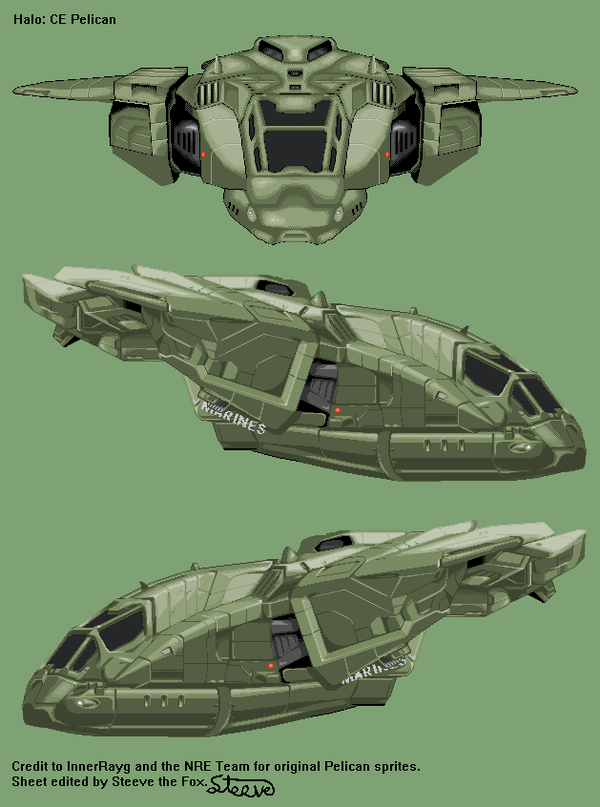 Halo: CE Pelican by Steeve-the-Fox
