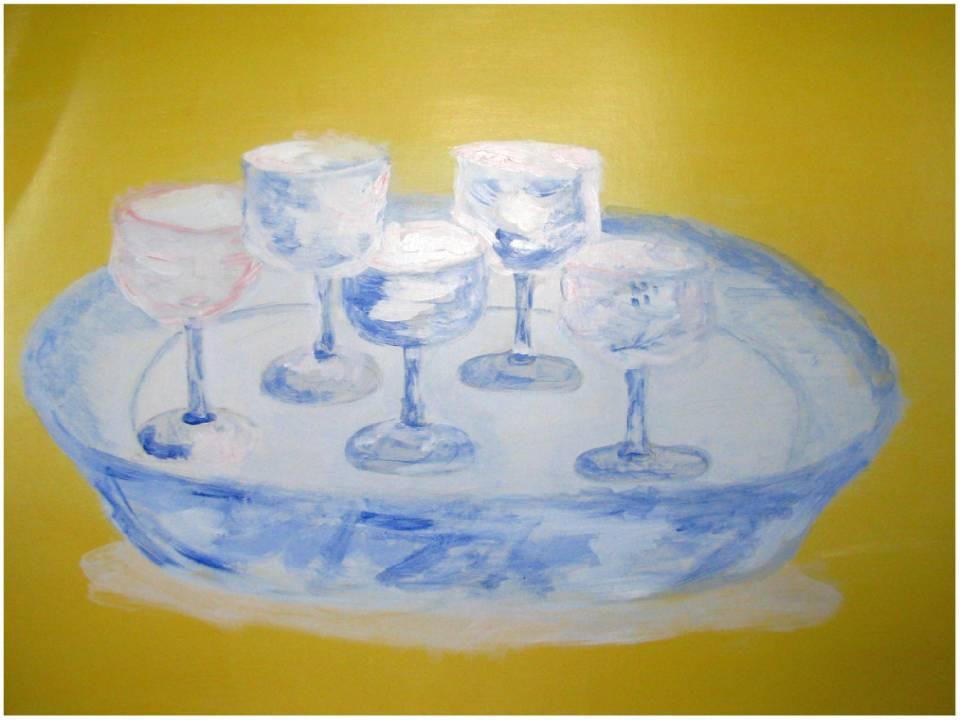 Vajilla china con copas de cristal by ananicoleta on - Vajillas de cristal ...