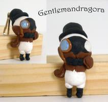 Gentlemandragora Keychain by Blackash
