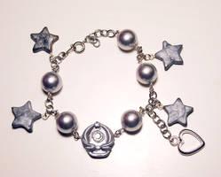 Sailor Moon charm bracelet by Blackash