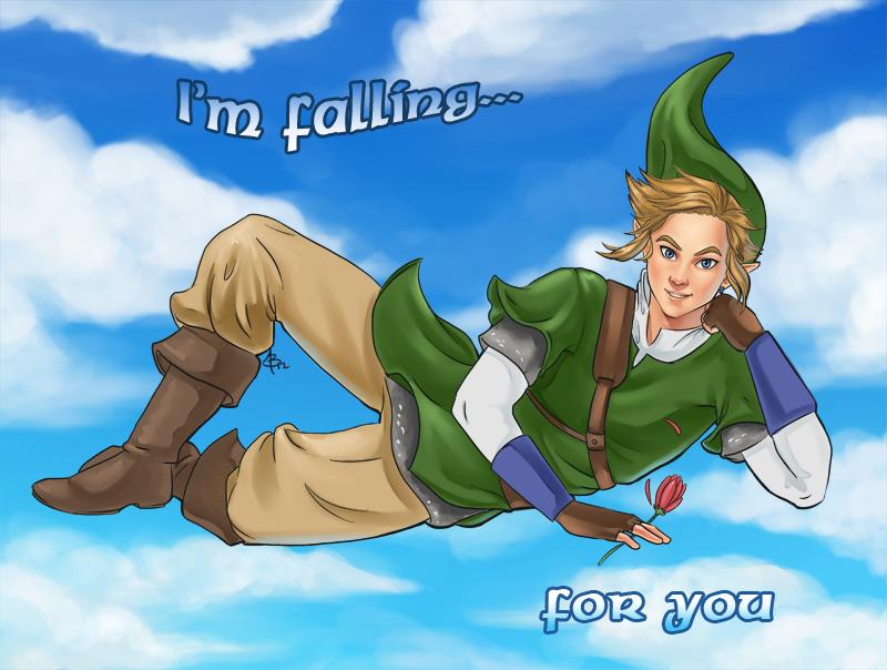 Link is falling by Blackash