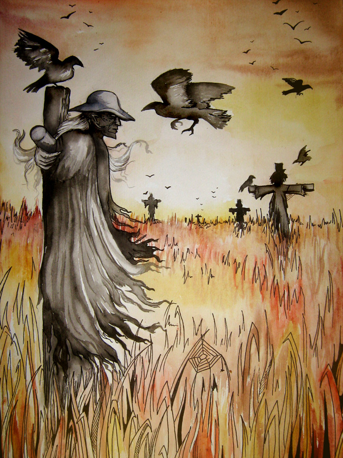 The scarecrow by NightFlame666 on DeviantArt