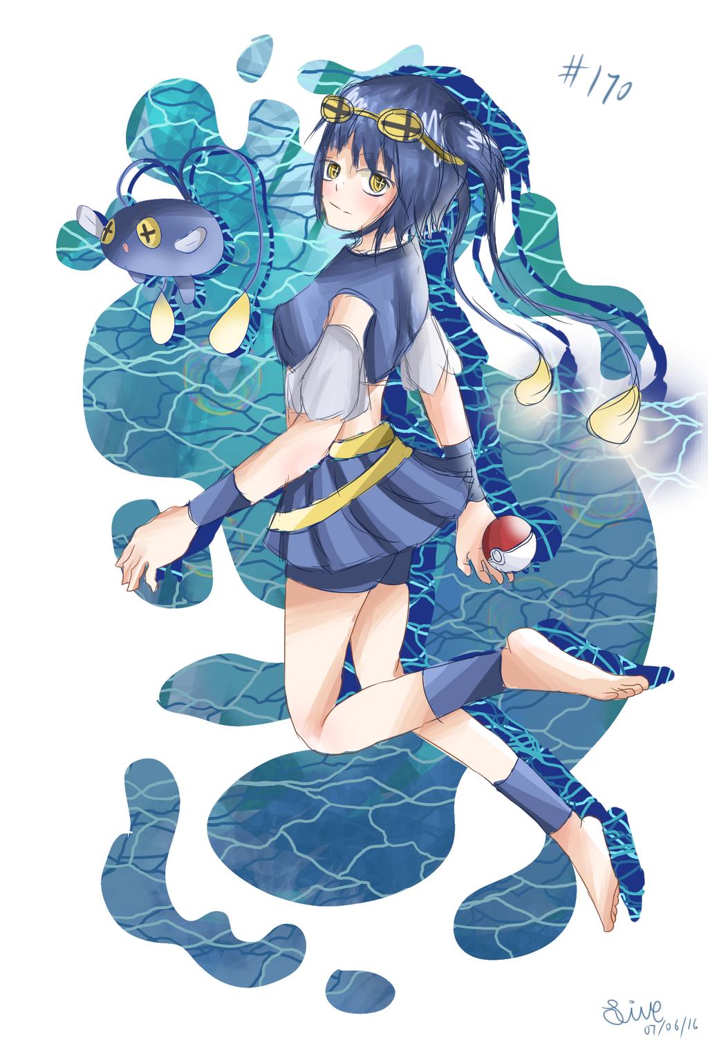 Pokemon: Chinchou Gijinka by CyiV on DeviantArt