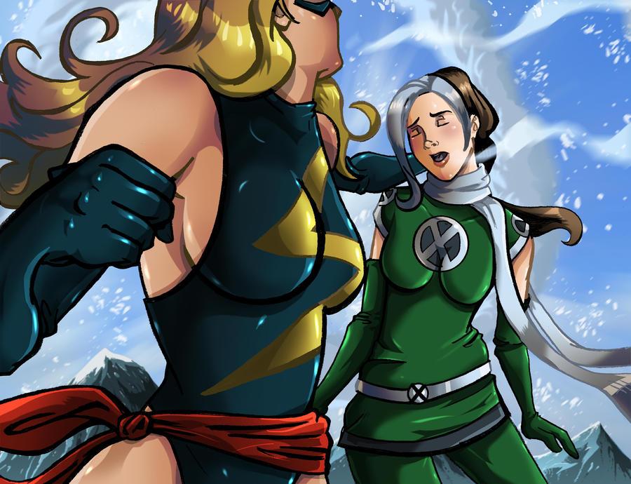 But she captain marvel hentai comic a vs x guy the