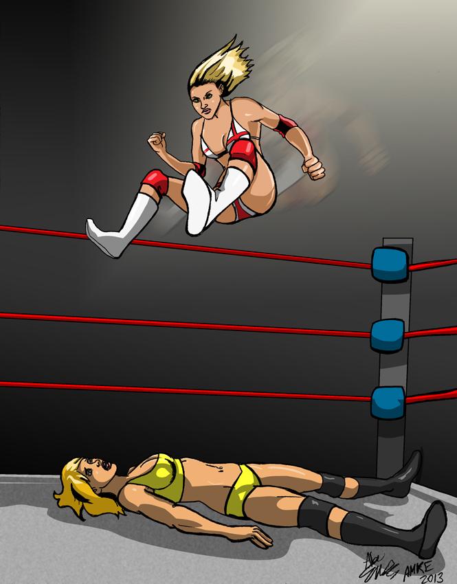 LegDrop-Shea vs Kylie by albonia