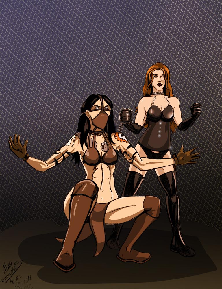 Chainsaw Charli and Mizz Paine by albonia