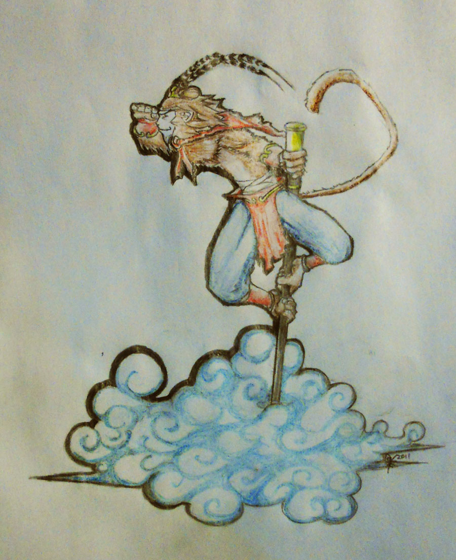 This is an image of Declarative Sun Wukong Drawing