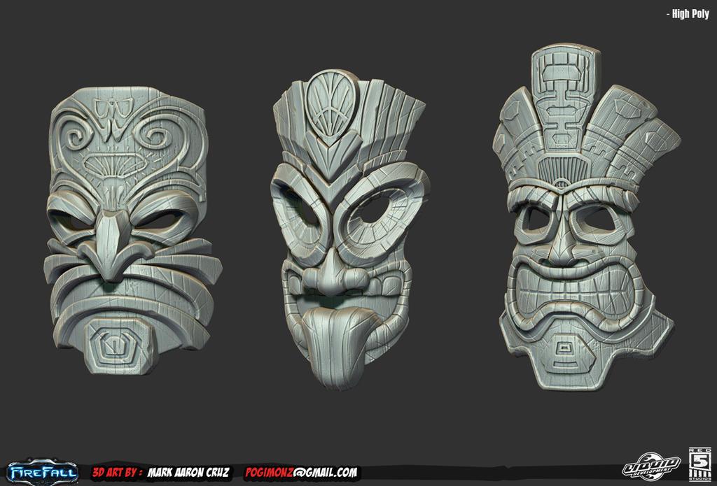 Barber Face Mask : Tiki Art on Pinterest Tiki Tattoo, Masks and Surfboard