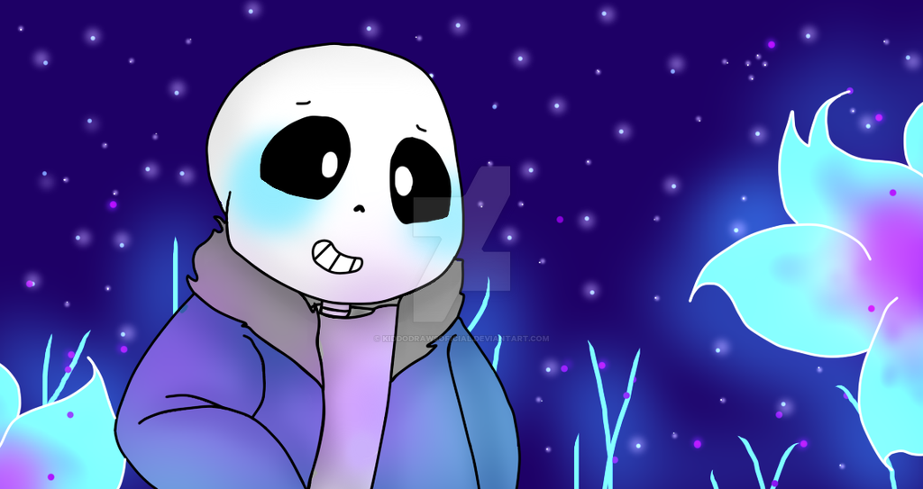 Sans In Waterfall by KiddoDrawsOficial