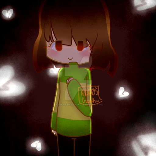 Undertale Chara (Re-Draw) by KiddoDrawsOficial