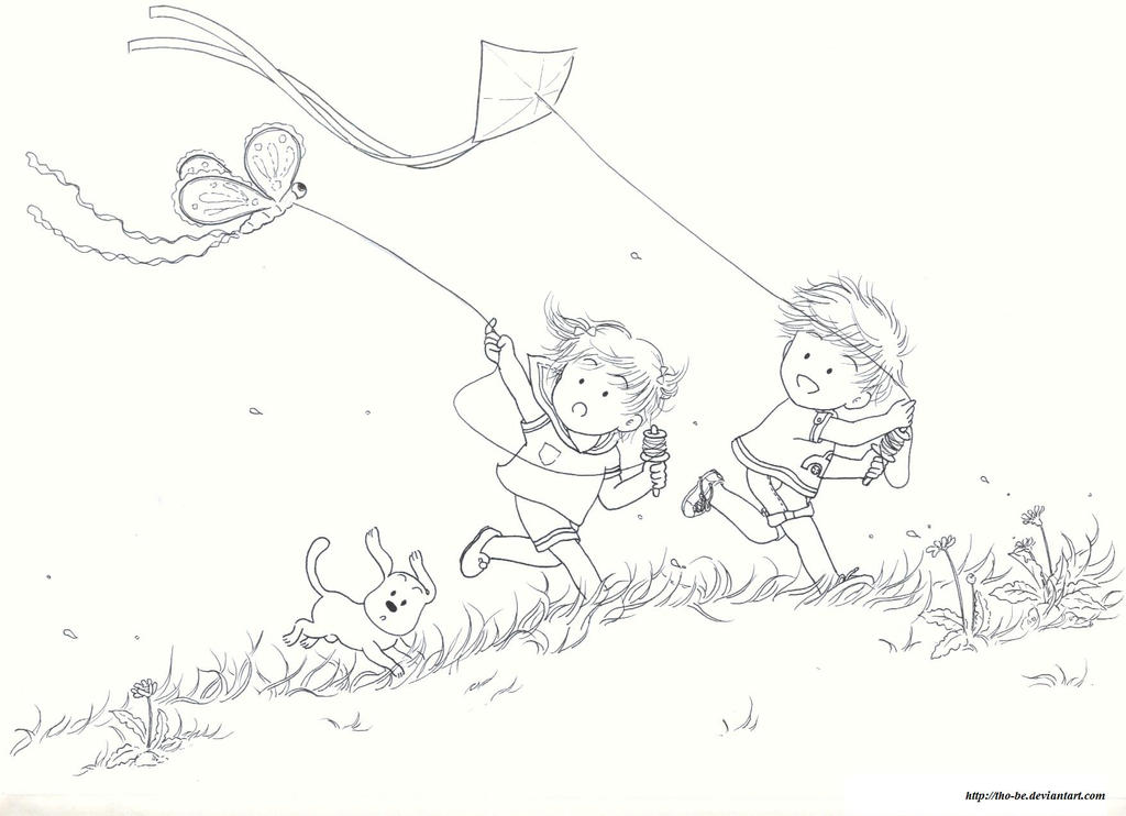 flying kites by tho-be