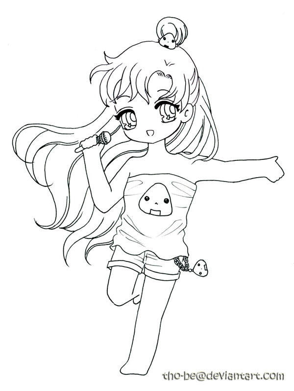 Sailor Pluto - lineart by tho-be