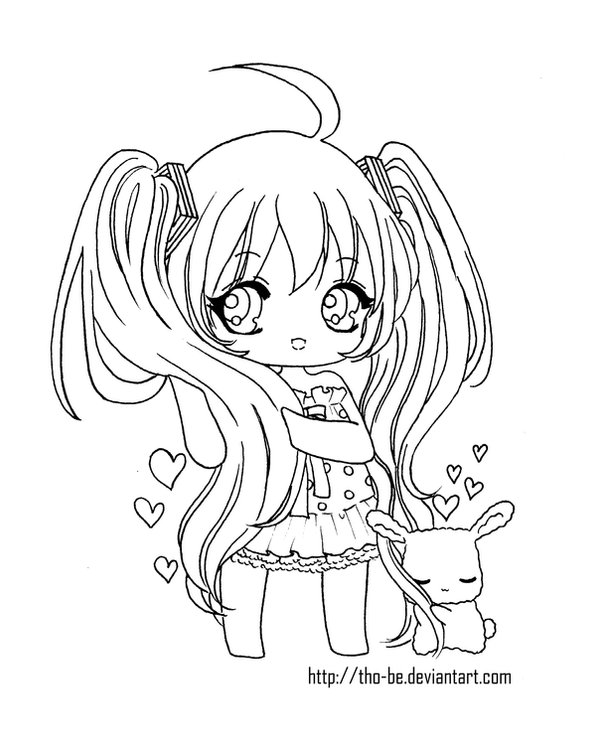 coloring pages on Pinterest Chibi